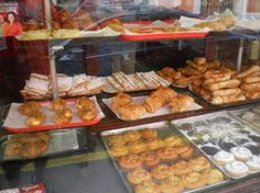 Puerto Rico: Pastries in window of Bombonera restaurant