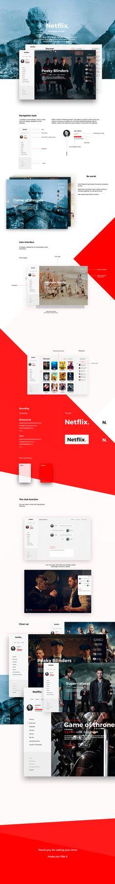 Netflix. on Behance
