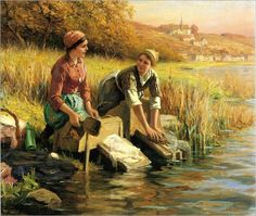 Knight_Daniel_Ridgway_Women_Washing_Clothes_by_a_Stream