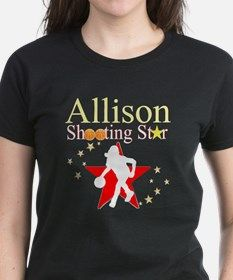 BASKETBALL PLAYER Tee Awesome Basketball Girl Tees and Gifts to inspire your Basketball star. Take 20% Off your order with code: ADORE20 http://www.cafepress.com/sportsstar/13293761 #Girlsbasketball #Lovebasketball #Basketballgift #Basketballchick #Hoopdreams
