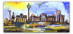 Berlin Skyline - Stadtbild, Stadtmalerei - Stadt Städte Gemälde Bilder Malerei kaufen #berlin #skyline #city #painting #malerei #stadtbild