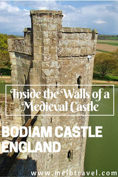 Inside the Walls of a Medieval Castle Bodiam Castle England