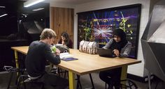 Students using the study area in the new Laby IDEAS Centre   Uni Melbourne   Schools of Physics