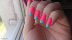 Triangle nails with tape - nail art