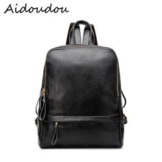 7952bf18217c New 2017 Real Soft Genuine Leather Women Backpack Woman Korean Style Ladies  Strap Laptop Bag Daily