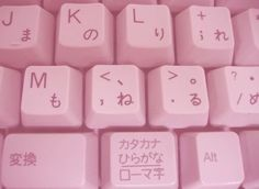 Image via We Heart It https://weheartit.com/entry/169136866/via/19580070 #adorable #bambi #keyboard #letters #pink #stuff #youtube #emojis