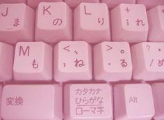 Image via We Heart It https://weheartit.com/entry/169136866/via/19580070 #adorable #bambi #keyboard #letters #pink #stuff #youtube #emojis