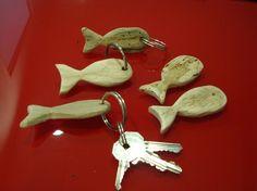 'driftwood fish' Porte-clé empreinte caribéenne avc bois flotté
