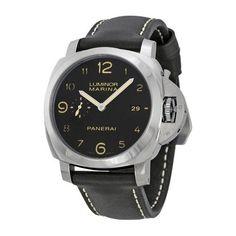 Panerai Luminora Marina 1950 Black Dial Automatic Men's Watch PAM00359, Size: 44mm