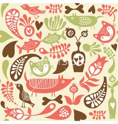 Seamless pattern vector - by Lenlis on VectorStock®