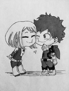 Uraraka Ochako and Midoriya Izuku