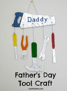 Father's Day Tool Craft - the perfect gift for a handy dad!