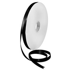 "Morex Ribbon 08809/00-030 Double Face Satin Polyester Ribbon, 3/8""/100 yd., Black >>> Don't get left behind, see this great product : Christmas Decorations"