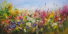 Resultado de imagen para flores abstractas en oleo