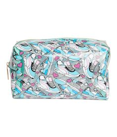 Check this out! Makeup bag in transparent plastic with a printed pattern. Zip at top extending halfway down short sides. Unlined. Size 3 1/4 x 4 x 7 in. - Visit hm.com to see more.