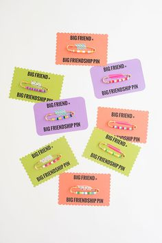 DIY friendship pins to give your BFF.