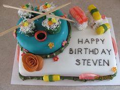 Sushi Birthday Cake 2010