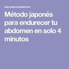 Método japonés para endurecer tu abdomen en solo 4 minutos
