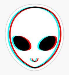 """""""Trippy Alien"""" Stickers by Hallart Stickers Cool, Tumblr Stickers, Phone Stickers, Printable Stickers, Planner Stickers, Trippy Alien, Alien Art, Alien Alien, Alien Drawings"""