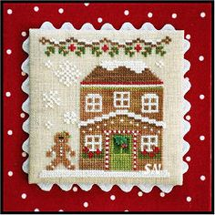 Gingerbread Village #8 GV8 House #5 from Country Cottage Needleworks -- click to see more