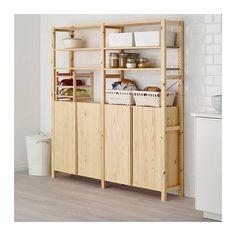 IVAR 2 elementen/planken/kast, grenen - grenen - 174x30x179 cm - IKEA