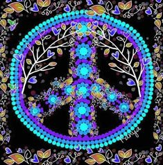 Hippie Peace, Happy Hippie, Hippie Love, Hippie Art, Hippie Chic, Hippie Style, Peace Love Happiness, Peace And Love, Peace Sign Art