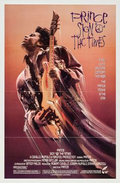 US one sheet for SIGN 'O' THE TIMES (Prince, USA, 1987) Designer: unknown Poster source: Heritage Auctions The best concert I ever saw, my favorite album of all time and a VHS tape I watched a million times. Say it ain't so.