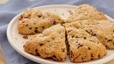 These tender, light scones made with Original Bisquick™ mix and Yoplait® Original yogurt French vanilla are loaded with sweet dried blueberries — a delicious quick-bread.