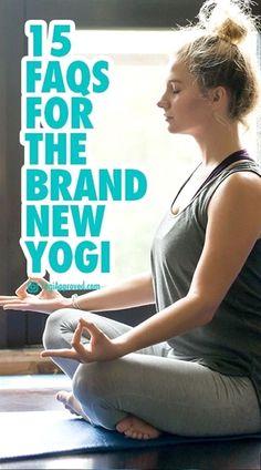 15 FAQs for the Brand New Yogi Tips for new yogis. Beginner yogis + yoga for beginners + yoga tips + yoga inspiration Yoga Régénérateur, Vinyasa Yoga, Yin Yoga, Yoga Flow, Yoga Beginners, Beginner Yoga, Yoga Inspiration, Different Types Of Yoga, Yoga For Stress Relief