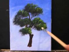 How to Paint a Tree in Acrylics - YouTube