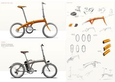 Folding electric bike by Cero Design