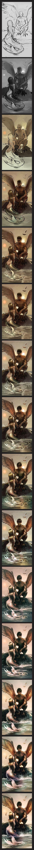 mermaid and angel progress pic by *Detkef