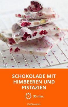 Schokolade mit Himbeeren und Pistazien - smarter - Zeit: 30 Min. | eatsmarter.de