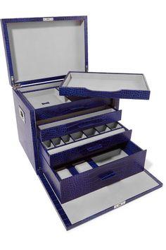 296d88d37679 Smythson - Mara croc-effect leather jewelry box