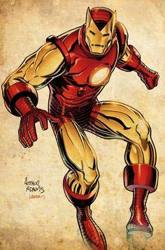 Iron Man art by Arthur Adams Marvel Comics, Marvel Comic Universe, Marvel Art, Marvel Heroes, Comic Book Artists, Comic Book Heroes, Comic Artist, Comic Books Art, Iron Man Art