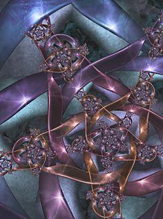 Copper Bound by sharkrey on DeviantArt Beautiful Flowers Wallpapers, Beautiful Artwork, Cool Artwork, Fractal Design, Fractal Art, Art Optical, Optical Illusions, New Media Art, Computer Art