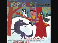 Artist: M rio Rossi, Mário Rossi, Boris Karloff. Title: Peter & the Wolf. Peter Prepares to Catch the Wolf. Peter Catches the Wolf. The Wolf Stalks the Bird and Cat. The Bird Diverts the Wolf. Wolf Album, Peter Wolf, Vienna State Opera, Wolf Illustration, Guys And Dolls, Bad Wolf, Little Pigs, Kids Songs, Red Riding Hood