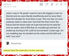 The cutest story I've ever read… IM IN 7th GRADE!!!! PLZ LET THIS HAPPEN TO ME!!!