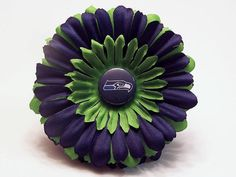 NFL Seattle Seahawks INSPIRED Daisy Flower by SnazzyBabyBoutique, $5.00