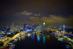 Singapore skyline from the awesome rooftop bar/restaurant Level 33