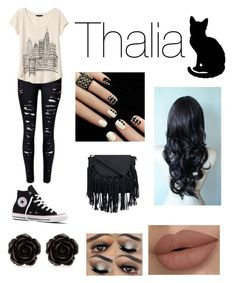 """Thalia viagens"" by eduardaregina-pereir ❤ liked on Polyvore featuring Banana Republic, Converse and Erica Lyons"