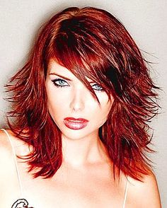 I WANT THIS!!  It's a little bitchy looking, and somewhat messy, and I think it would look great growing out!!  LOVE IT!! choppy_red_layers