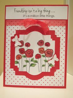 Gina K stamp used to make a friendship card