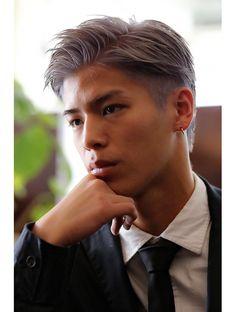 Asian Man Haircut, Asian Men Hairstyle, Japanese Hairstyle, Asian Hair, Combover Hairstyles, Dope Hairstyles, Silver Hair Men, Medium Hair Styles, Short Hair Styles