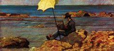 Giovanni Fattori Silvestro Lega painting by the sea