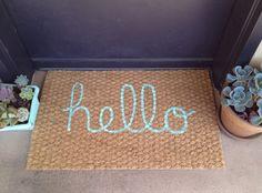"""Hello"" Welcome Mat by itsonlyyoushop"