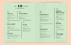 Welcome to the jungle - Le guide de l'Emploi - Violaine et Jérémy Booklet Design, Menu Design, Ui Design, Layout Design, Graphic Design, Menu Layout, Print Layout, Book Layout, Illustration Sketches