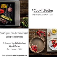 Hurry! You have until 28th February 2017 to enter Whitfords #CookItBetter Instagram Contest for a chance to WIN an IPhone: 1. Follow the Whitford company Instagram page @whitfordww 2. Share a photo of your nonstick cooking creativity; this can be anything from your favorite pan an alternative and creative pan use with or without food just free your mind and creativity. 3. Tag @ Whitfordww and use the #CookItBetter hashtag! The photo with the highest number of likes will be the winner. Winner…