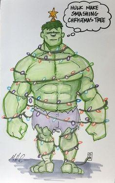 #Hulk #Animated #Fan #Art. (I'm a Christmas Treet) By: Artildawn. ÅWESOMENESS!!!™ ÅÅÅ+