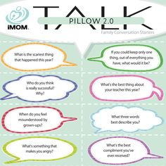 End the day with sweet bonding time with your child. iMOM\u0027s Pillow TALK 2.0 conversation